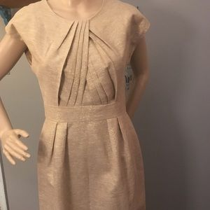Shoshanna Goldtone Dress w Gold Metallic Touches